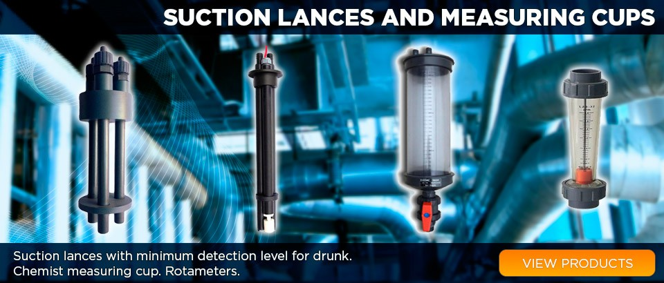 Suction lances, measuring cups,Rotameters